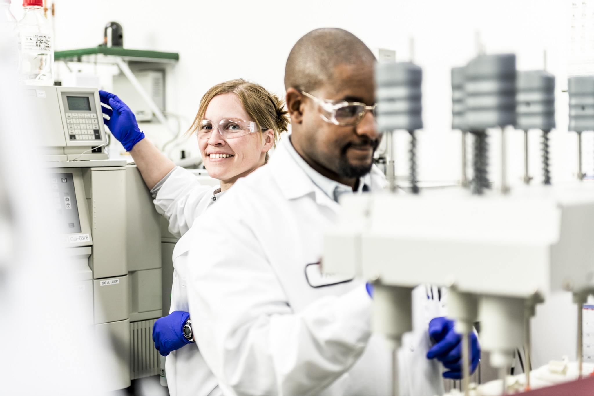 Tapemark employees working in the analytical lab