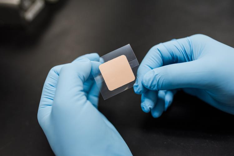 Photo of a transdermal patch