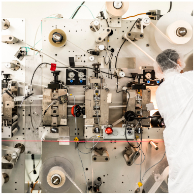 Pharmaceutical converting line at Tapemark.
