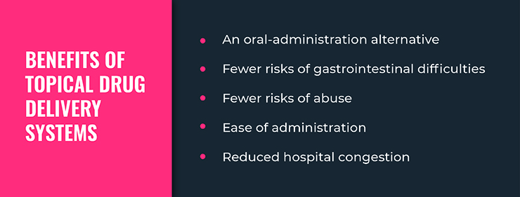 Benefits of topical drug delivery systems